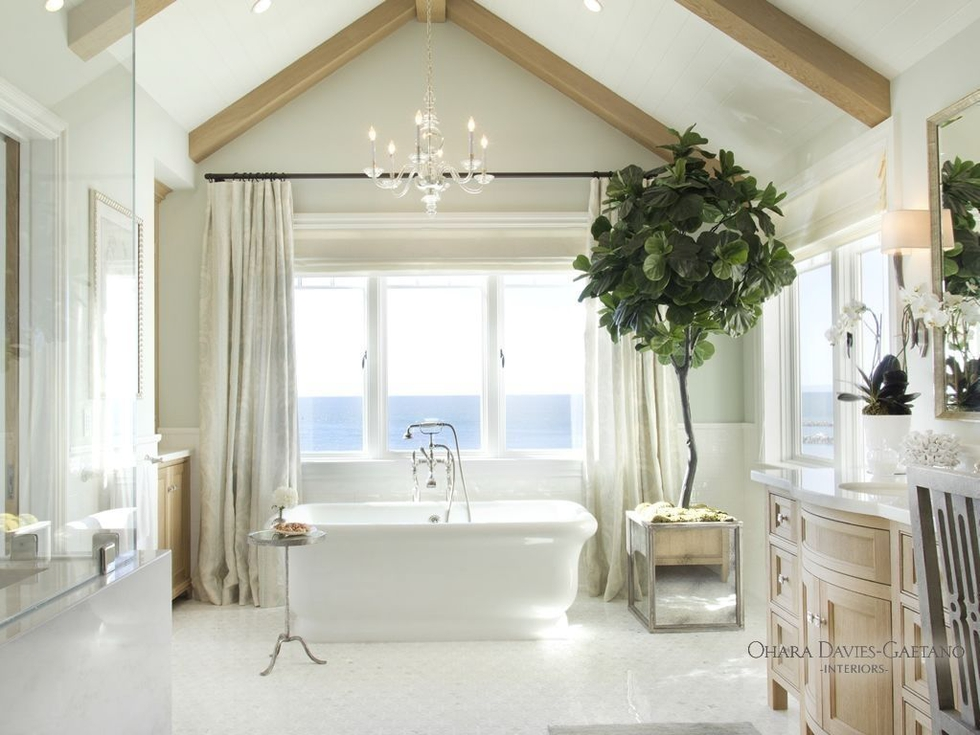 Elegant California Bathroom With Ocean View by Ohara Davies-Gaetano