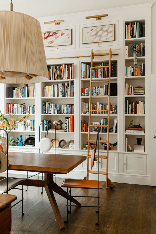 Tall Built-in Bookcases