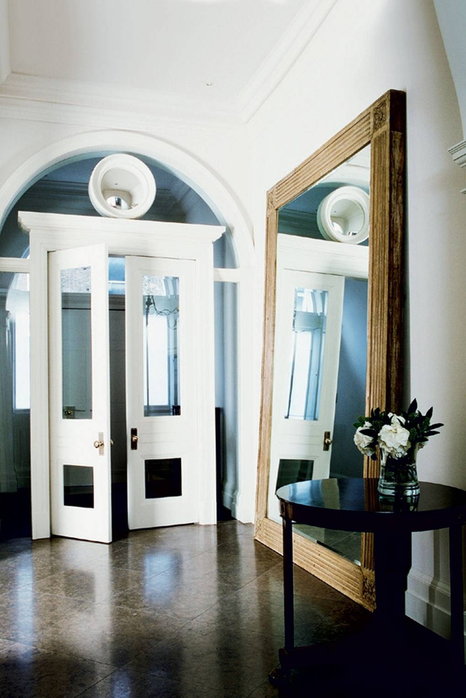 Hallway With Oversize Mirror