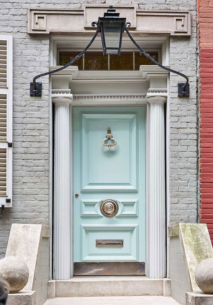 Miles Redd's Front Door in Tiffany Blue
